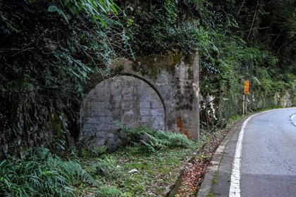 神新(しんしん)軌道の平野隧道跡
